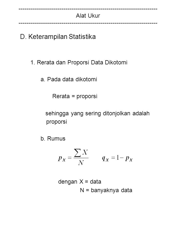 D. Keterampilan Statistika