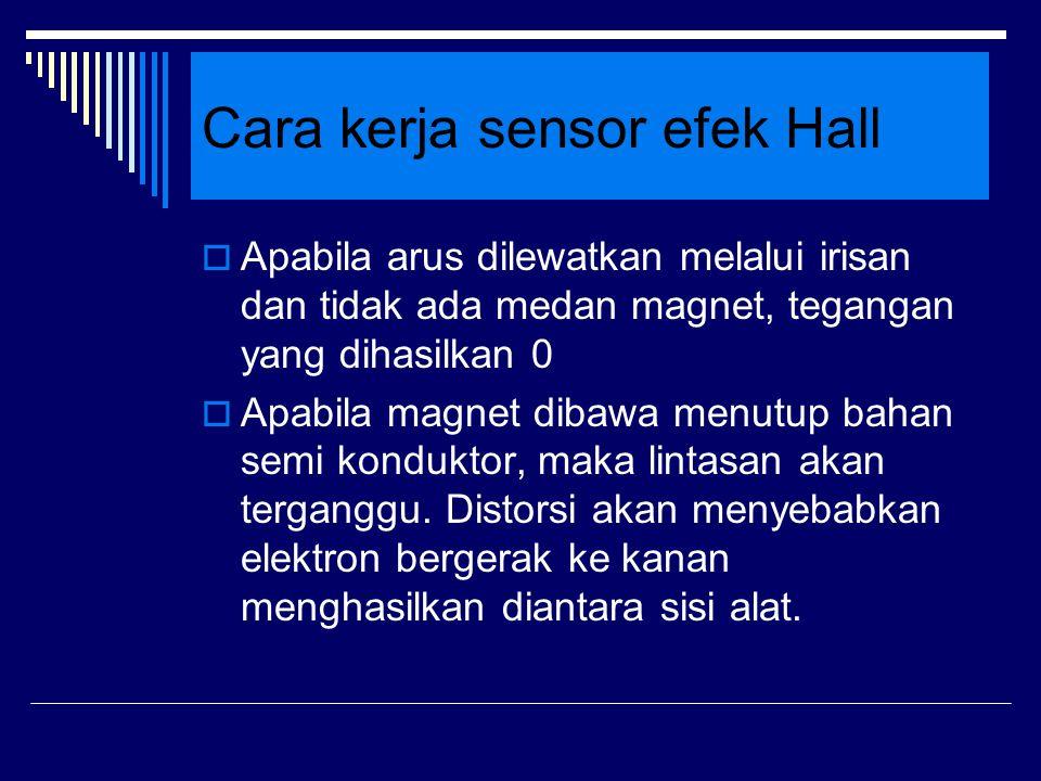 Cara kerja sensor efek Hall