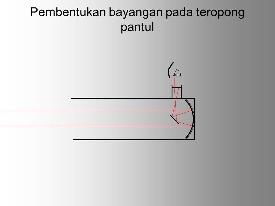 Pembentukan bayangan pada teropong pantul