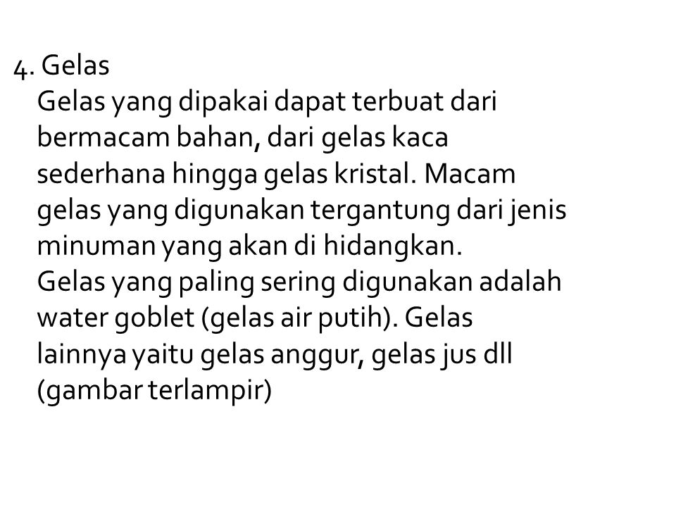 4. Gelas