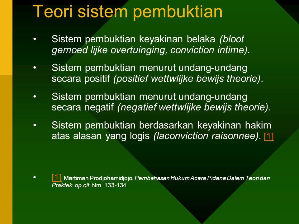 Teori sistem pembuktian