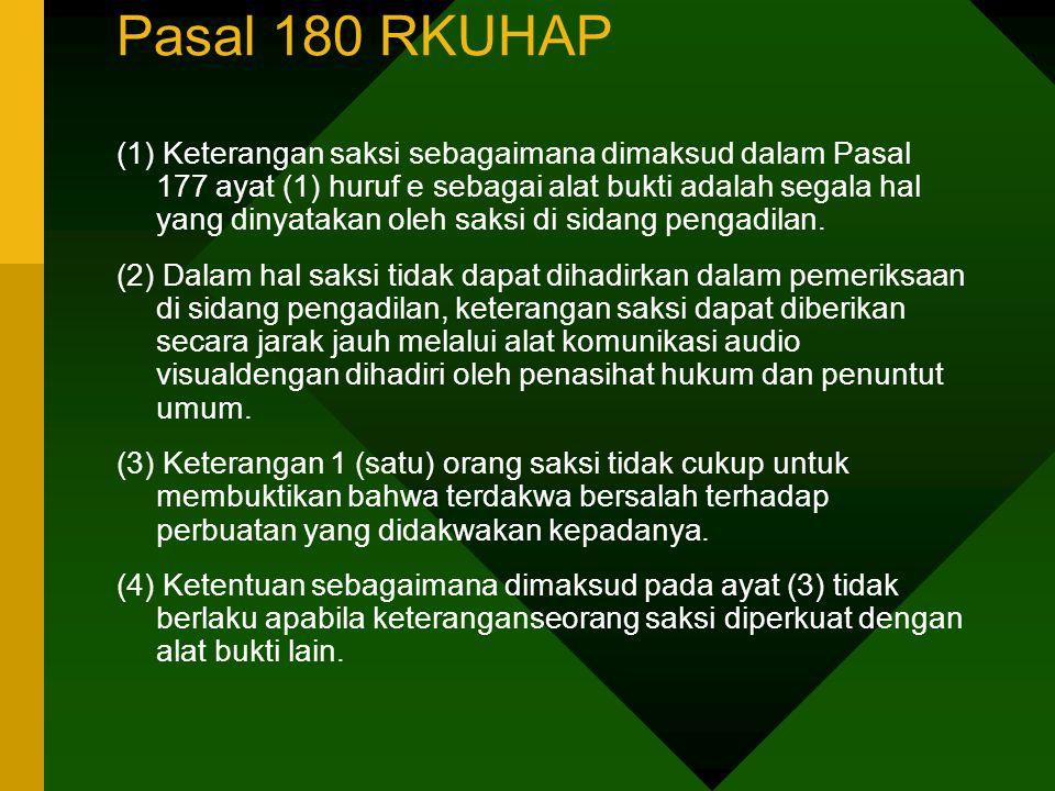 Pasal 180 RKUHAP