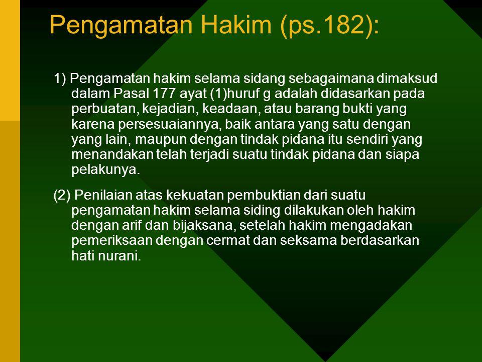 Pengamatan Hakim (ps.182):
