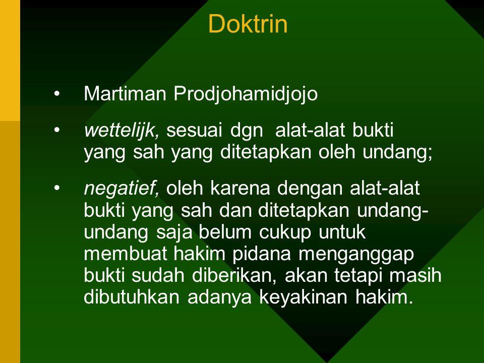 Doktrin Martiman Prodjohamidjojo