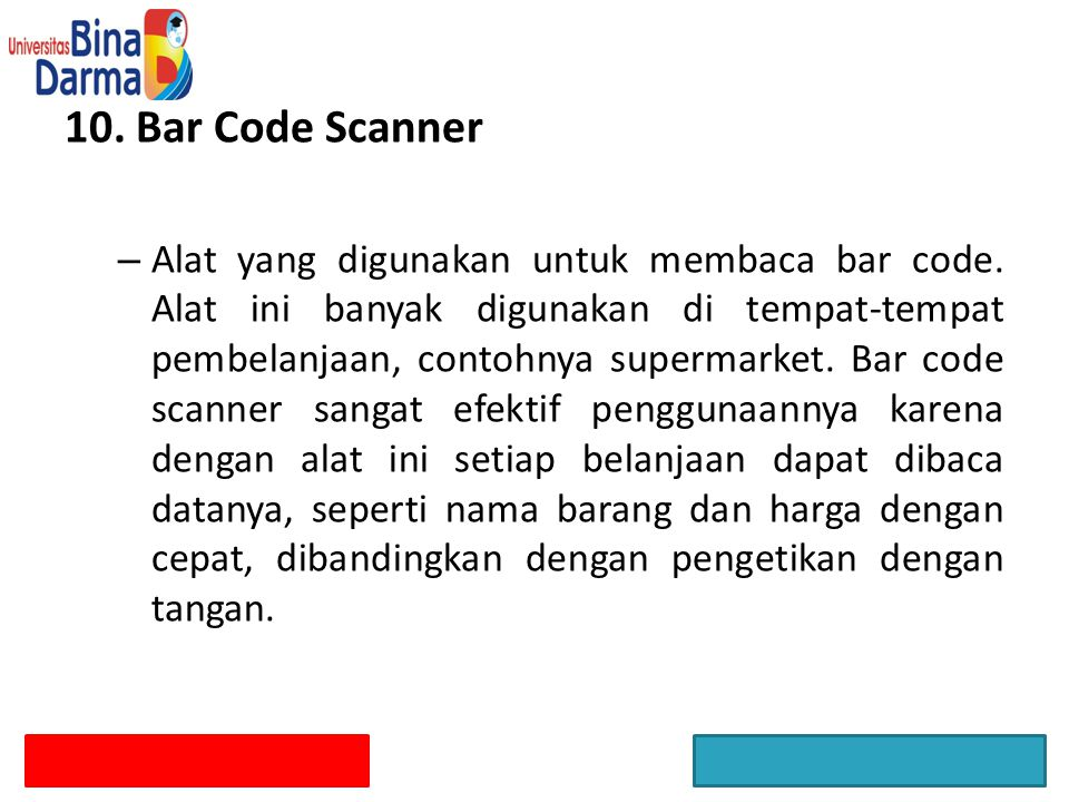 10. Bar Code Scanner