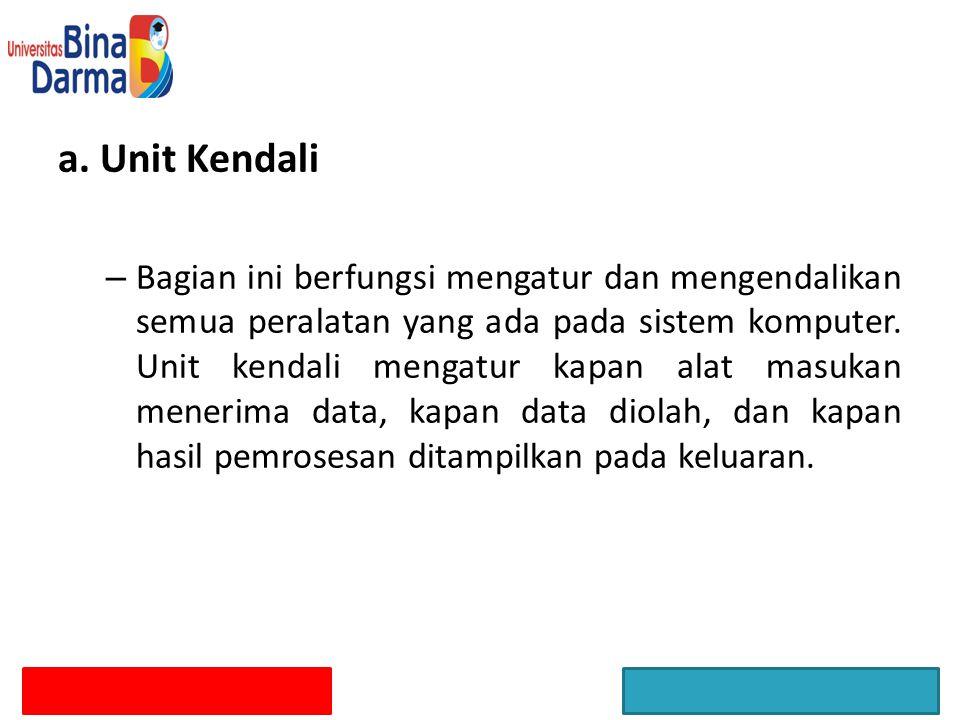 a. Unit Kendali