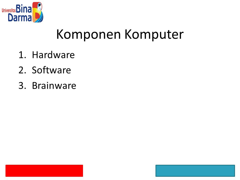 Komponen Komputer Hardware Software Brainware