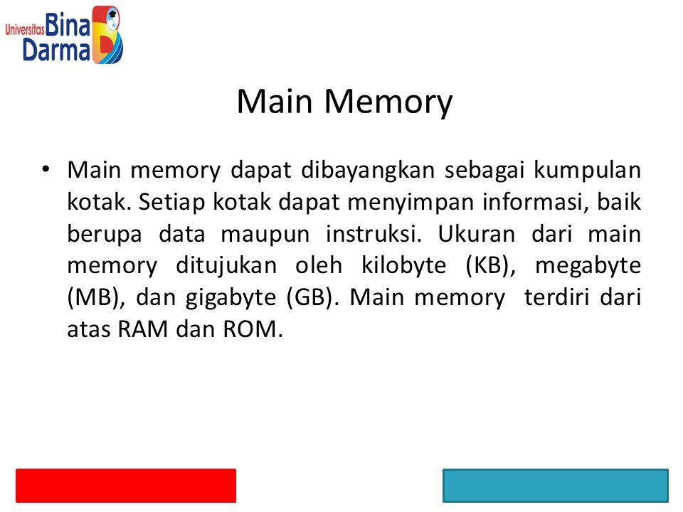 Main Memory