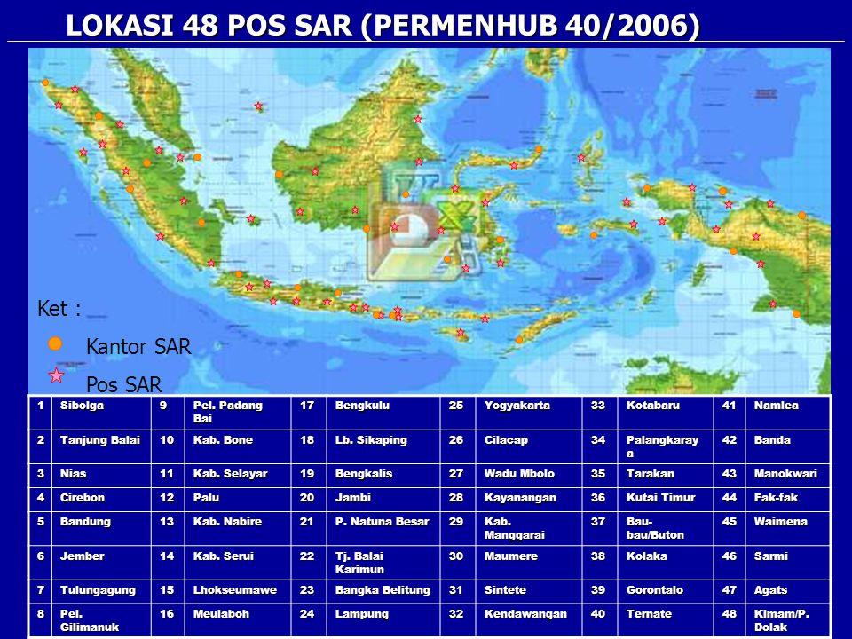 LOKASI 48 POS SAR (PERMENHUB 40/2006)