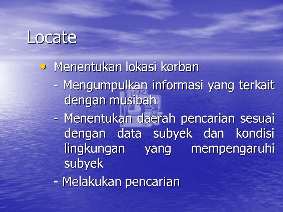 Locate Menentukan lokasi korban