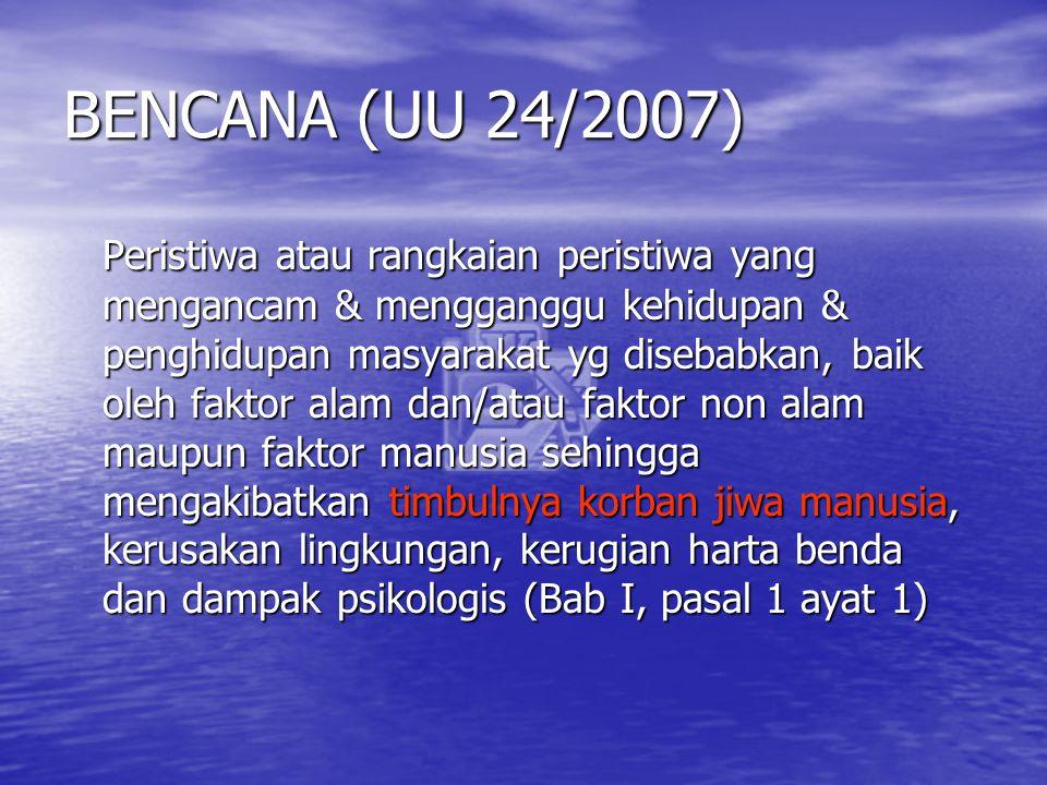BENCANA (UU 24/2007)