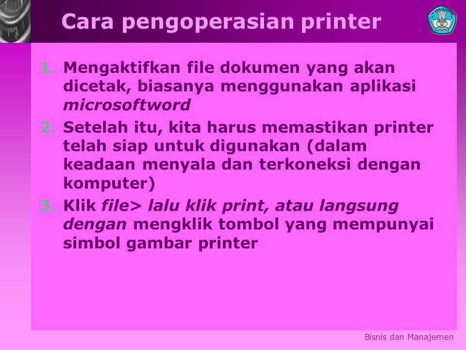 Cara pengoperasian printer