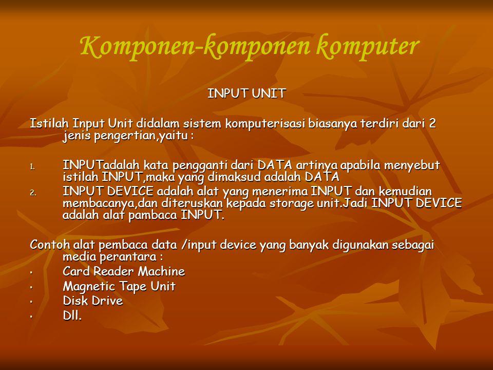 Komponen-komponen komputer
