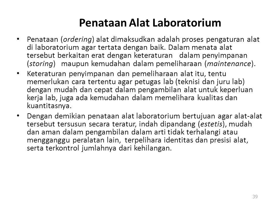 Penataan Alat Laboratorium