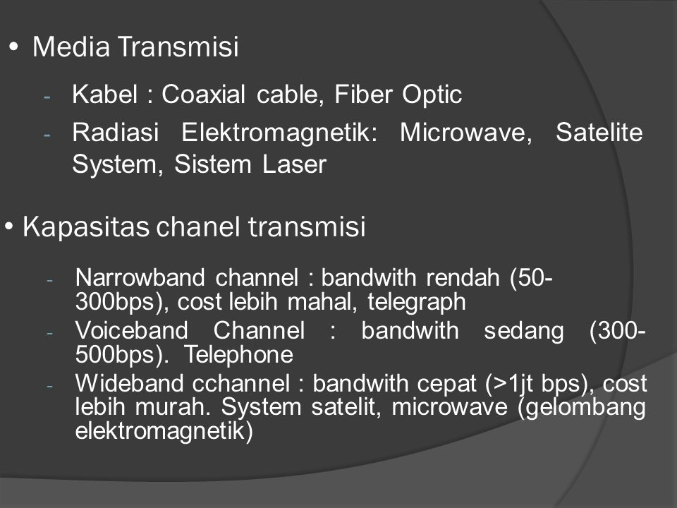 Kapasitas chanel transmisi