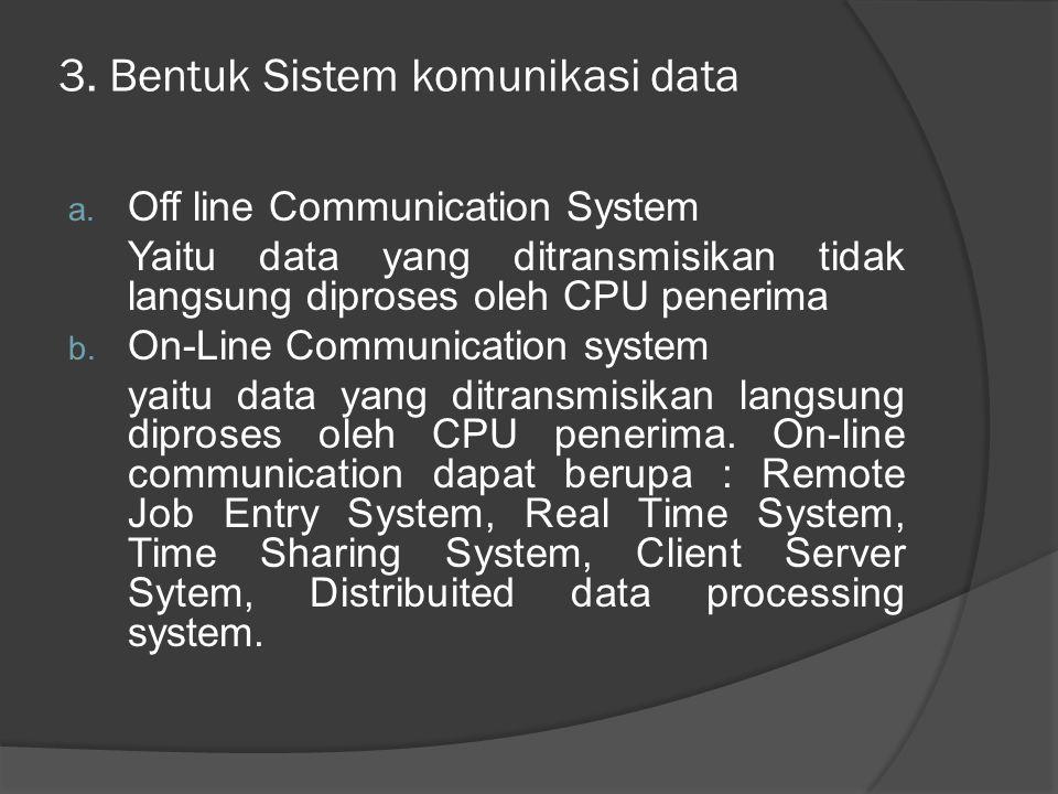 3. Bentuk Sistem komunikasi data