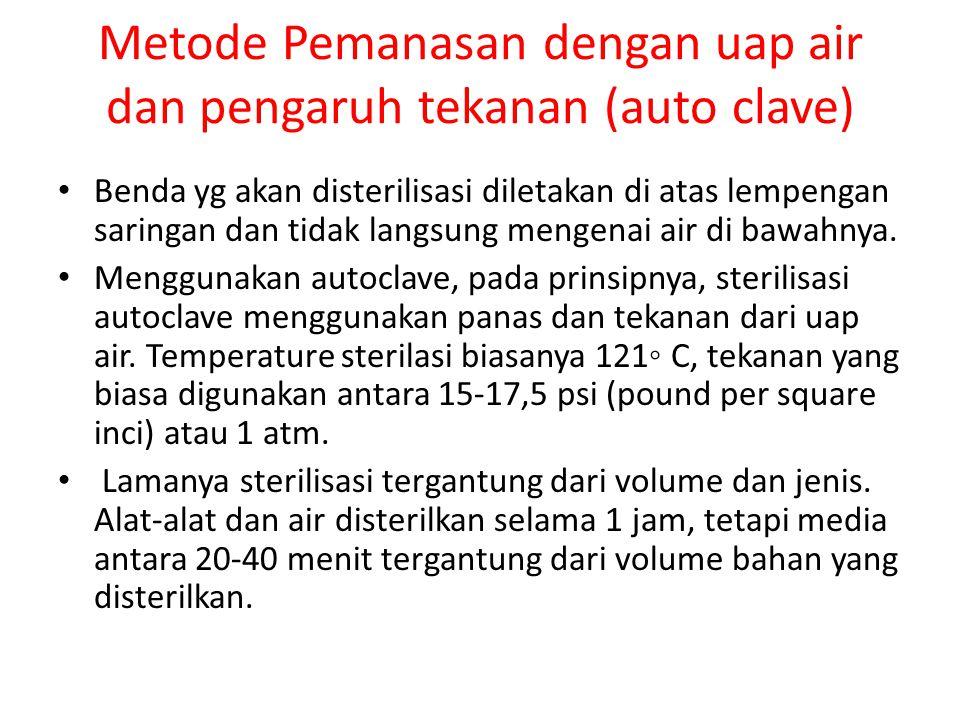 Metode Pemanasan dengan uap air dan pengaruh tekanan (auto clave)