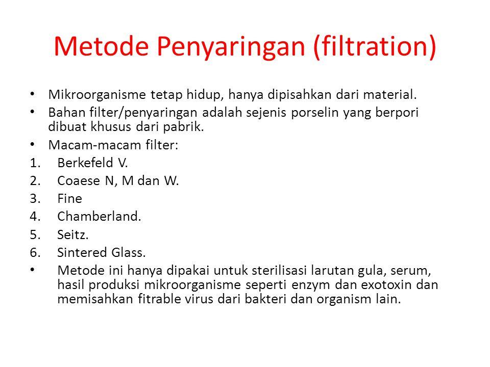 Metode Penyaringan (filtration)