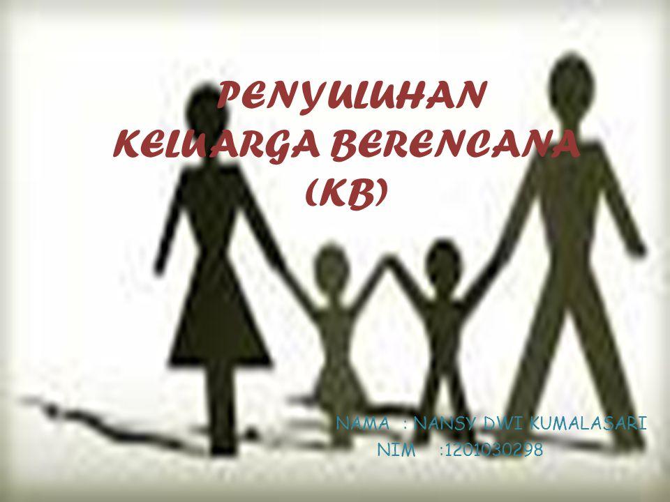 PENYULUHAN KELUARGA BERENCANA (KB)