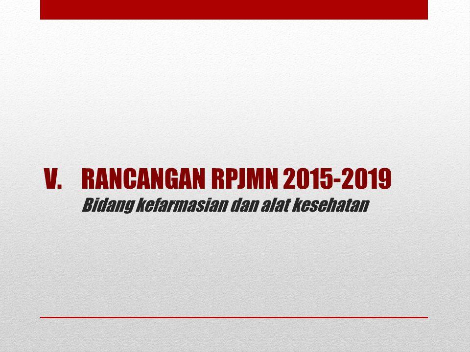 RANCANGAN RPJMN 2015-2019 Bidang kefarmasian dan alat kesehatan