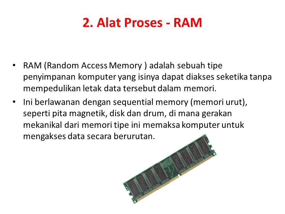 2. Alat Proses - RAM