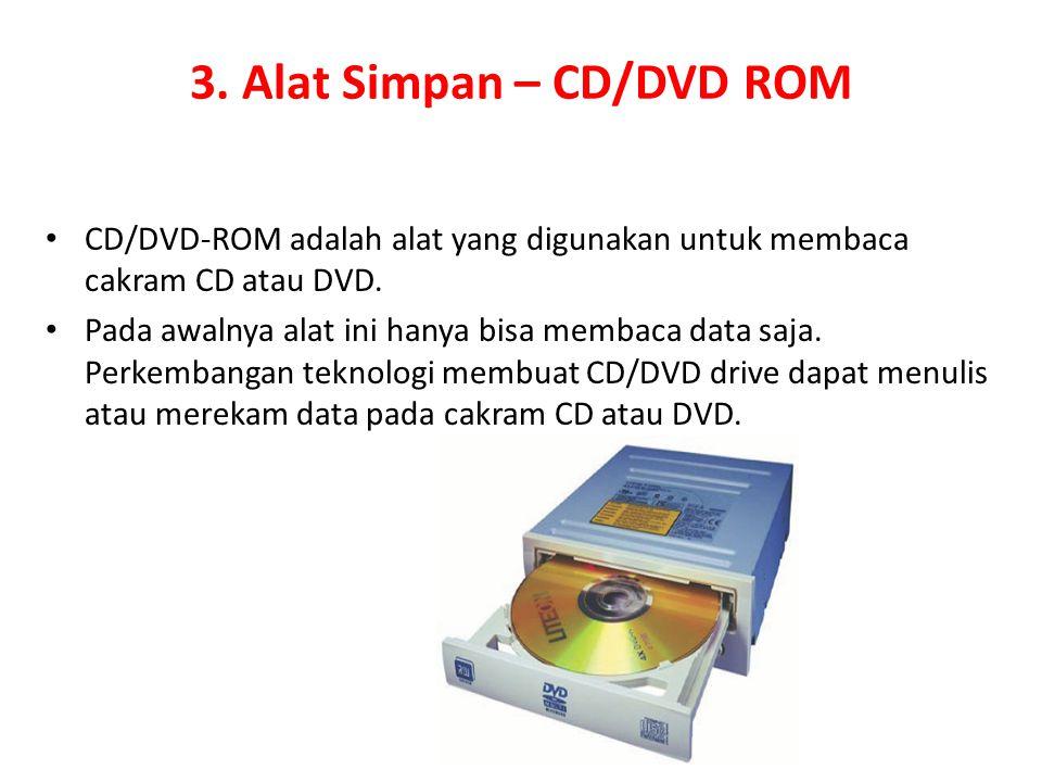 3. Alat Simpan – CD/DVD ROM