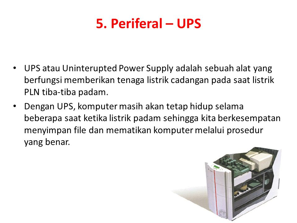 5. Periferal – UPS