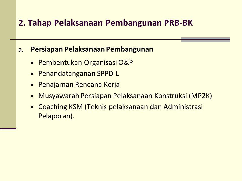 2. Tahap Pelaksanaan Pembangunan PRB-BK