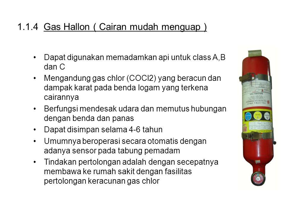 1.1.4 Gas Hallon ( Cairan mudah menguap )