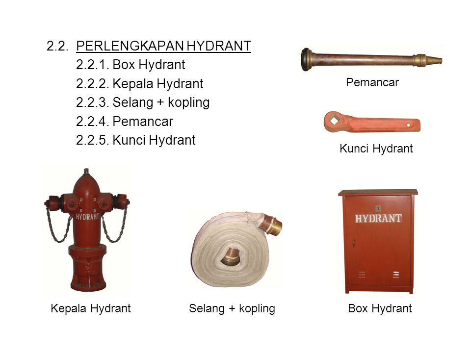 2.2. PERLENGKAPAN HYDRANT 2.2.1. Box Hydrant 2.2.2. Kepala Hydrant