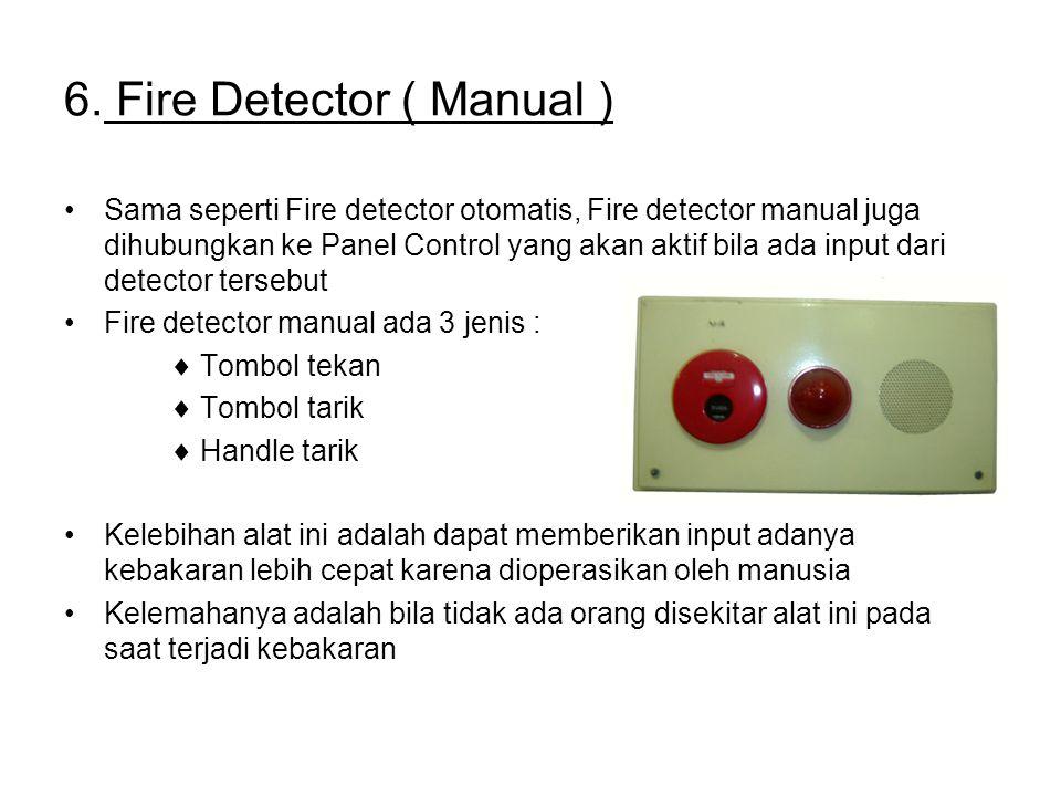6. Fire Detector ( Manual )