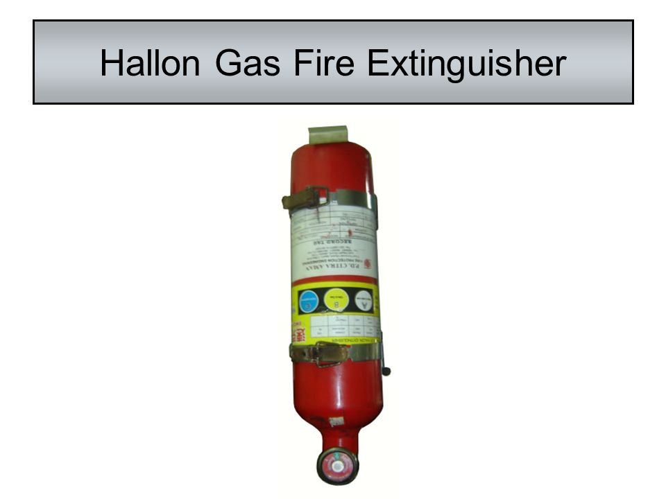 Hallon Gas Fire Extinguisher