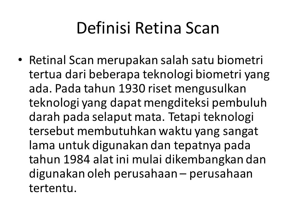 Definisi Retina Scan
