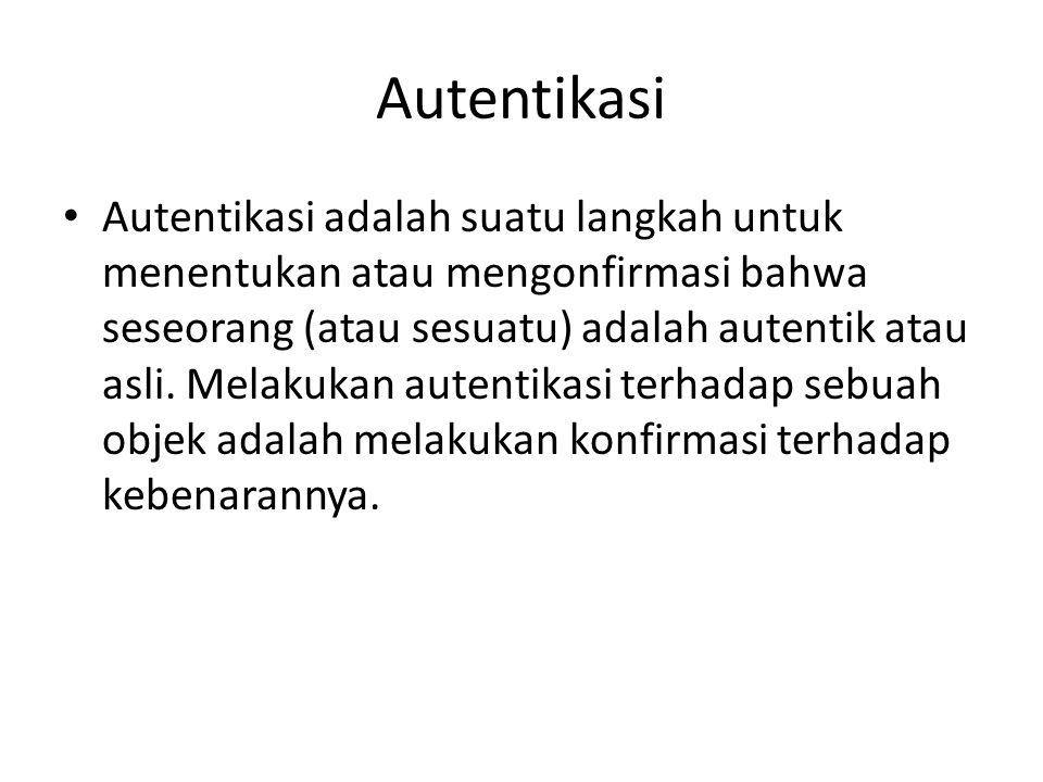 Autentikasi