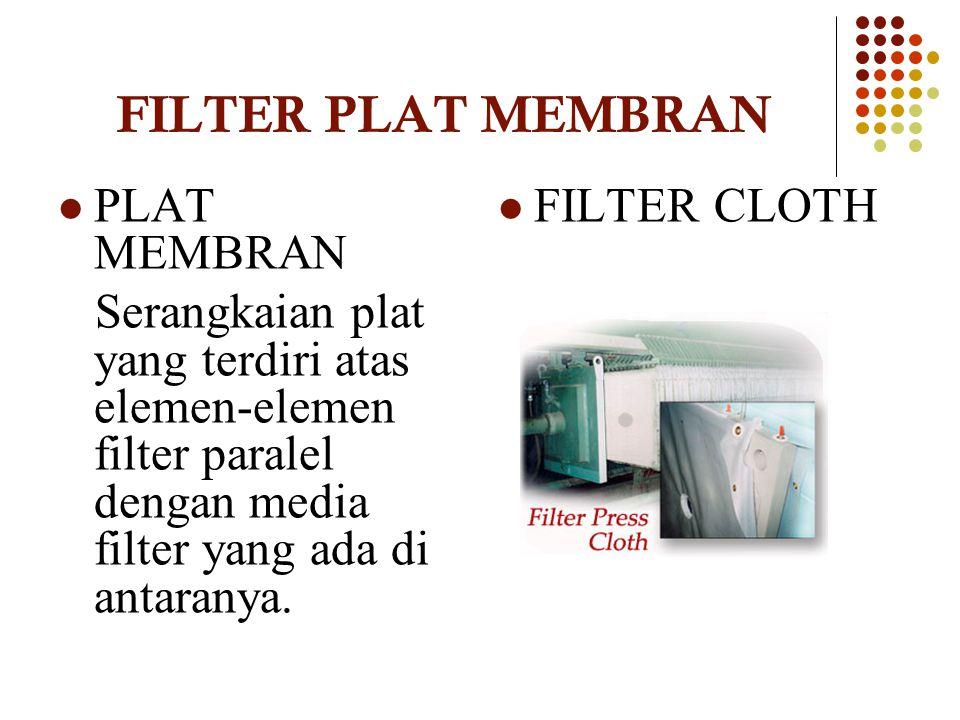 FILTER PLAT MEMBRAN PLAT MEMBRAN