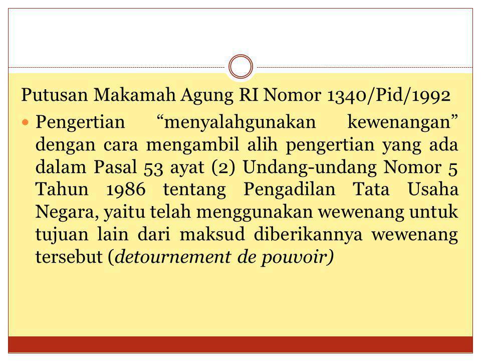 Putusan Makamah Agung RI Nomor 1340/Pid/1992