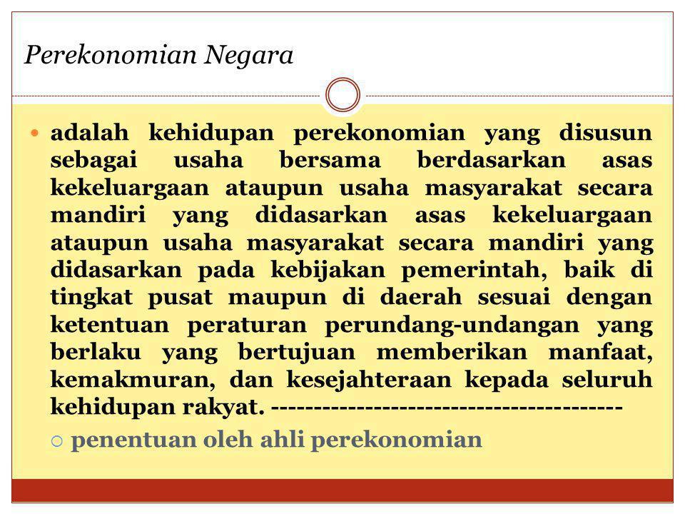 Perekonomian Negara