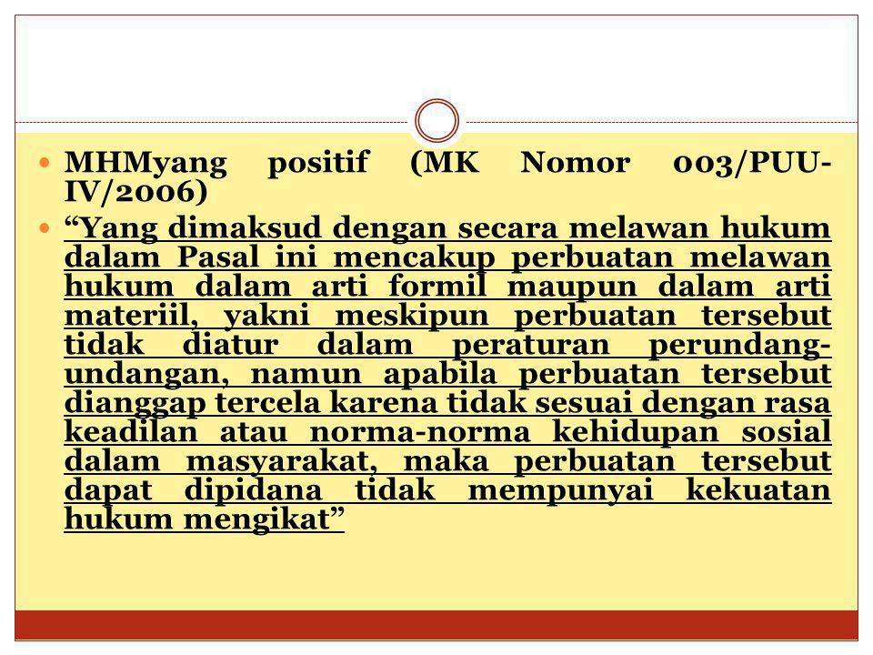MHMyang positif (MK Nomor 003/PUU-IV/2006)