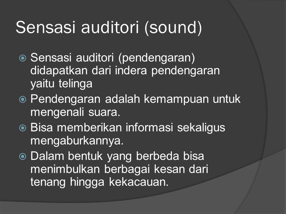 Sensasi auditori (sound)
