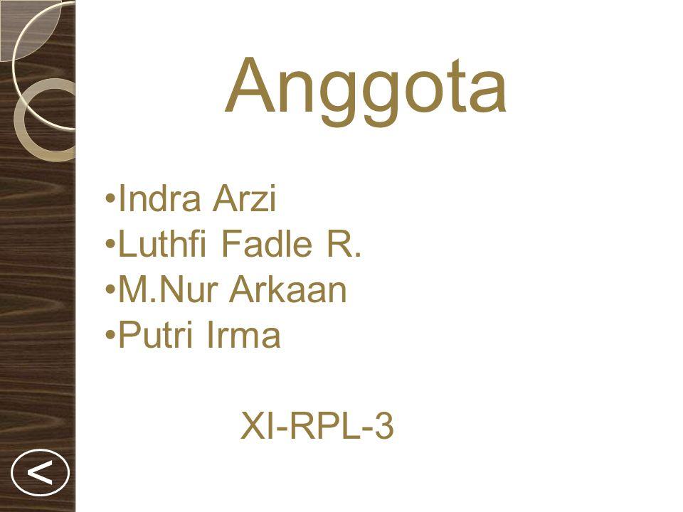 Anggota < Indra Arzi Luthfi Fadle R. M.Nur Arkaan Putri Irma