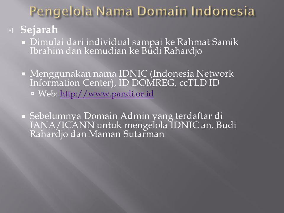 Pengelola Nama Domain Indonesia