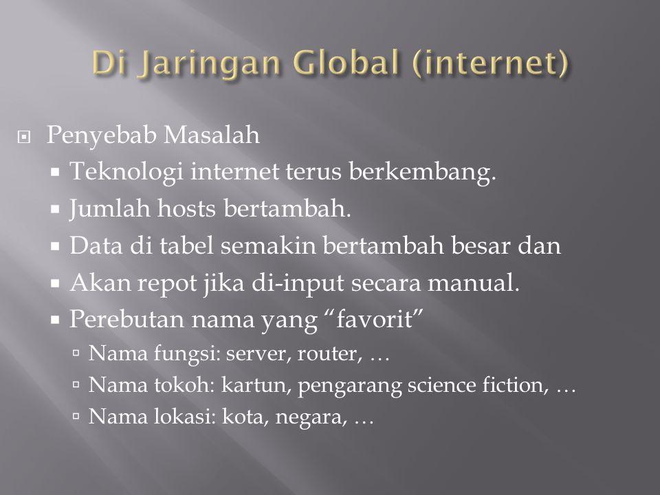 Di Jaringan Global (internet)