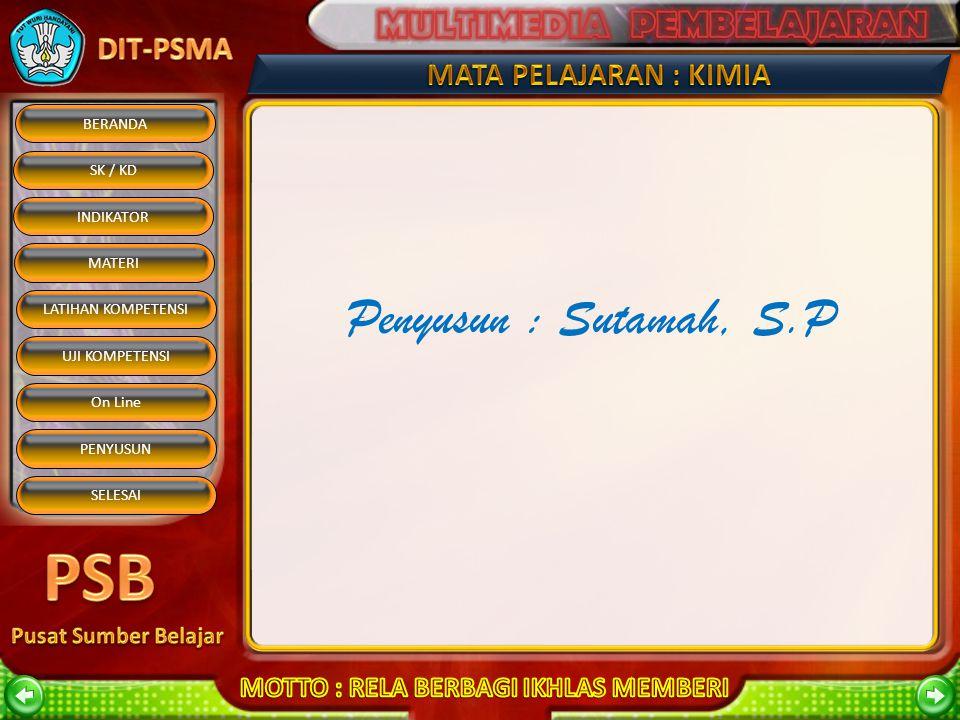 Penyusun : Sutamah, S.P