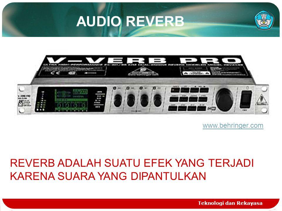 AUDIO REVERB www.behringer.com. REVERB ADALAH SUATU EFEK YANG TERJADI KARENA SUARA YANG DIPANTULKAN.