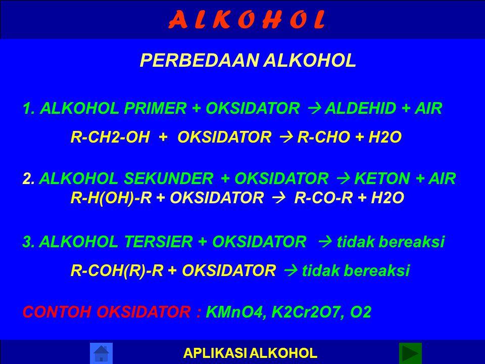 A L K O H O L PERBEDAAN ALKOHOL