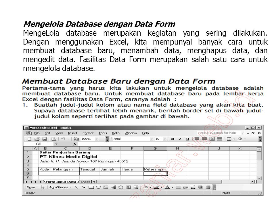 Mengelola Database dengan Data Form