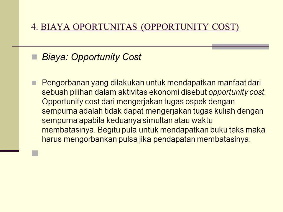 4. BIAYA OPORTUNITAS (OPPORTUNITY COST)