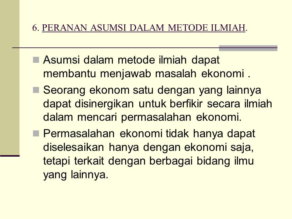 6. PERANAN ASUMSI DALAM METODE ILMIAH.
