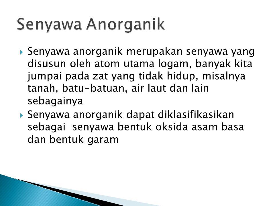 Senyawa Anorganik