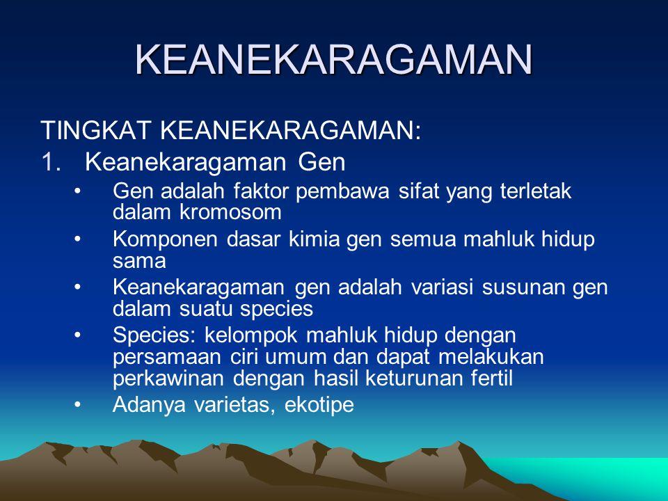 KEANEKARAGAMAN TINGKAT KEANEKARAGAMAN: Keanekaragaman Gen